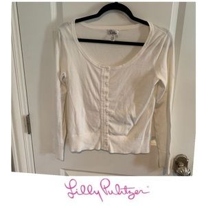 Lilly Pulitzer White Cardigan Sweater